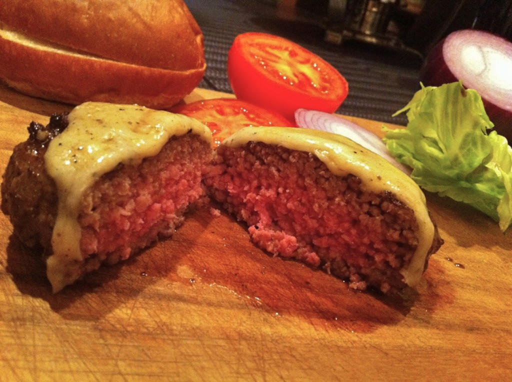 The Blue Label Sous Vide Cheese Burger